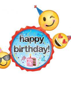 Happy Birthday Emoji Supershape Balloon