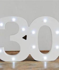 Light Up Number 30 Decoration