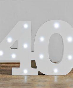 Light Up Number 40 Decoration