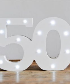 Light Up Number 50 Decoration