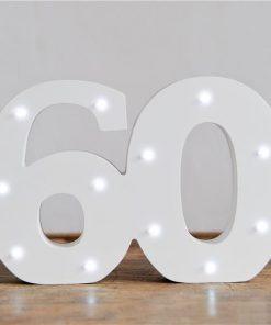 Light Up Number 60 Decoration