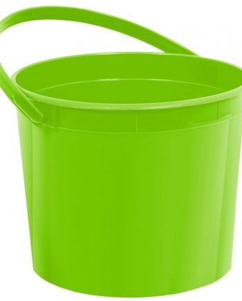 Lime Green Plastic Favour Bucket