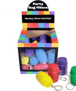Bulk Pocket Money Toys - Monkey Game Keychain