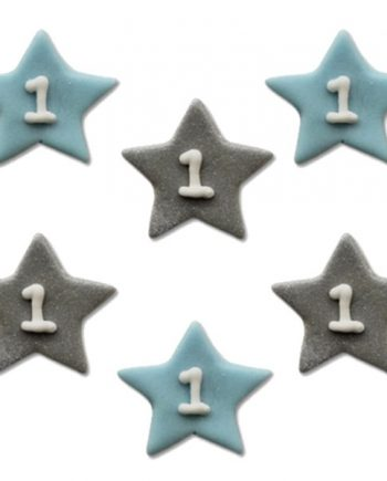 One Little Star Blue Sugar Cake Decorations Toppers