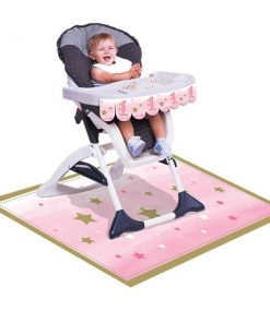 One Little Star Girl Party High Chair Kit