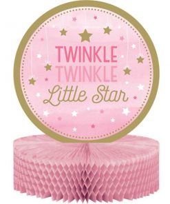 One Little Star Girl Party Honeycomb Table Centrepiece