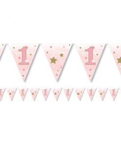 One Little Star Girl Party Paper Bunting