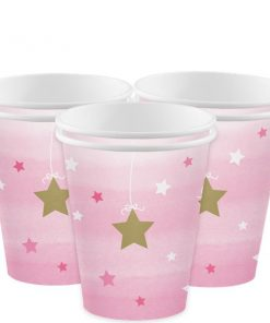 One Little Star Girl Party Paper Cups