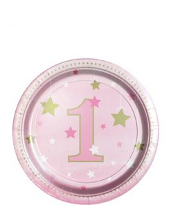 One Little Star Girl Party Paper Plates
