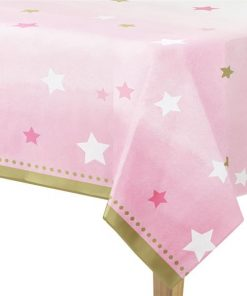 One Little Star Girl Party Plastic Tablecover
