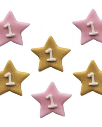 One Little Star Pink Sugar Cake Decorations Toppers