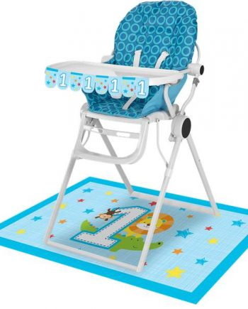 One is Fun Boy Party High Chair Kit