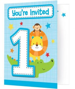 One is Fun Boy Party Invitations