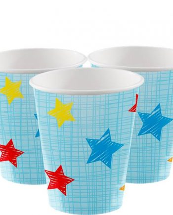 One is Fun Boy Party Paper Cups