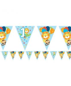 One is Fun Boy Party Paper Flag Bunting