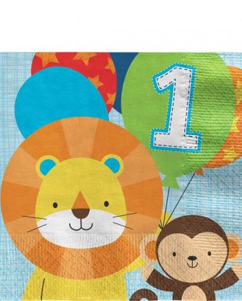 One is Fun Boy Party Paper Napkins