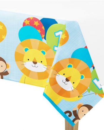 One is Fun Boy Party Plastic Tablecover