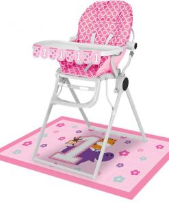 One is Fun Girl Party High Chair Kit