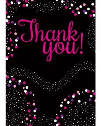 21st Birthday Pink Thank You Cards