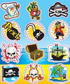 Bulk Pocket Money Toys - Pirates Stickers