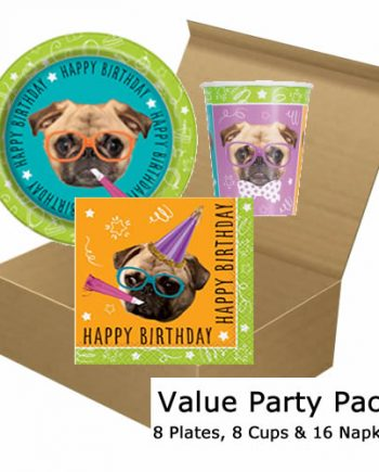 Pug Party Value Party Pack for 8