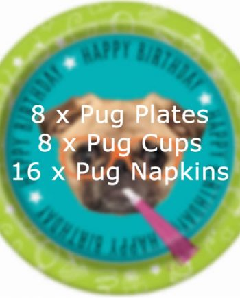 Pug Party Deluxe Party Pack for 8