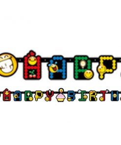 Smiley Party Happy Birthday Letter Banner
