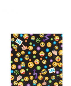 Smiley Party Paper Beverage Napkins