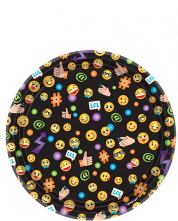 Smiley Party Paper Dessert Plates