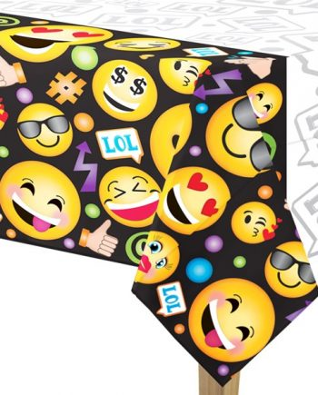 Smiley Party Plastic Tablecover