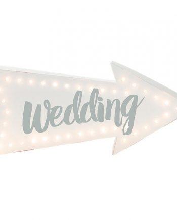 White Wedding Arrow Light