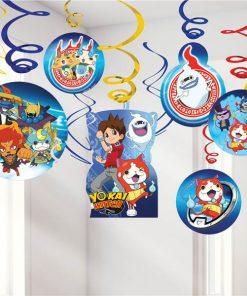 Yo-Kai Watch Party Hanging Swirl Decorations