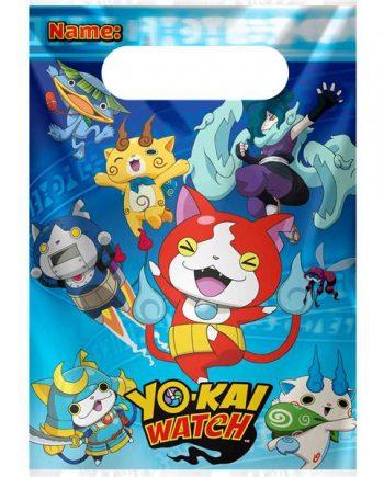 Yo-Kai Watch Party Plastic Loot Bags