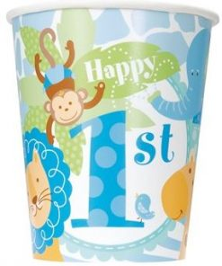 1st Birthday Safari Party Paper Cups