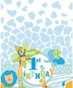 1st Birthday Safari Party Plastic Tablecover