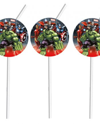 Avengers Party Straws