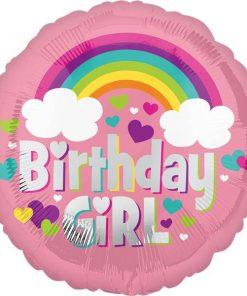 Birthday Girl Rainbow Balloon