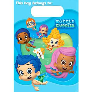 Bubble Guppies Party Plastic Loot Bags