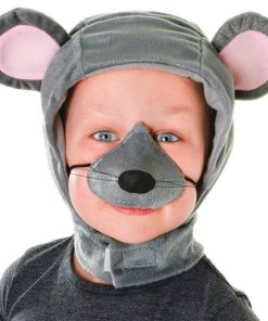 Child's Mouse Hood with Nose