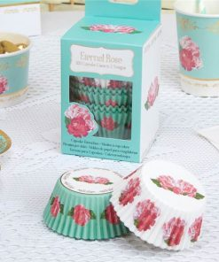 Eternal Rose Tea Party Cupcake Cases