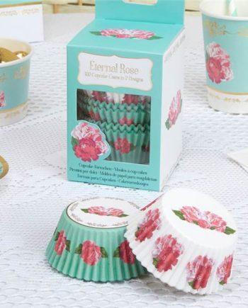 Eternal Rose Tea Party Cupcake Cases