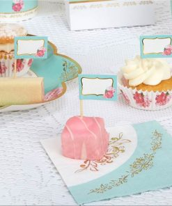 Eternal Rose Tea Party Cupcake Picks