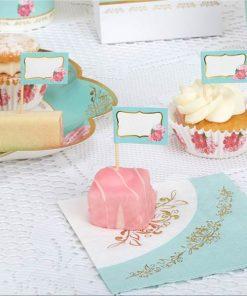 Eternal Rose Tea Party Cupcake Picks