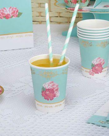 Eternal Rose Tea Party Paper Cups