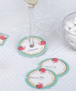 Eternal Rose Tea Party Glass Name Markers