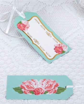Eternal Rose Tea Party Large Luggage Tags