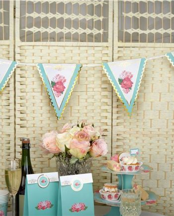 Eternal Rose Tea Party Paper Bunting