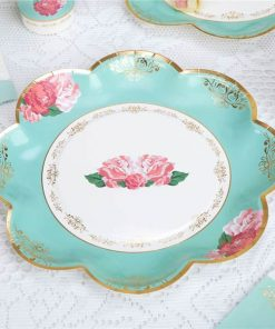 Eternal Rose Tea Party Paper Plates