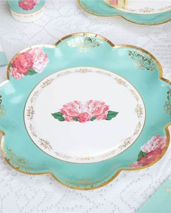 Eternal Rose Tea Party Paper Plates