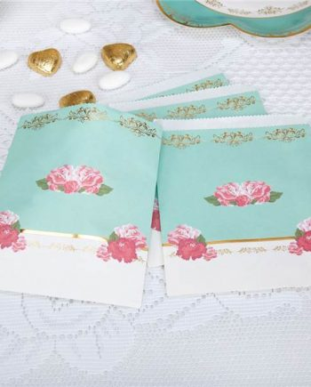 Eternal Rose Tea Party Paper Sweet Bags